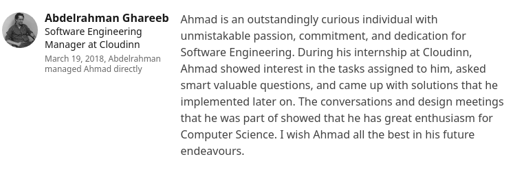 Abdelrahman Ghareeb, hiring manager at CloudInn